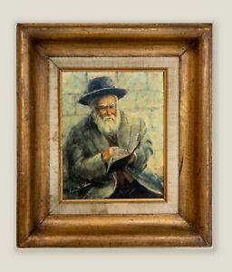 R. Cohen Original Oil Painting. Judaica Jewish Art