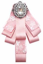 Schleifenbrosche Rosa Diamanten Strass Blume Brosche Schleife Anstecker G8473