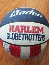 harlem globetrotters signed basketball globe trotters autographed ball 5 players