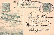 SELTEN Off. Flugpostkarte / Nationalflugspende 13.10.1912 Eulerflugzeug@GS 1M
