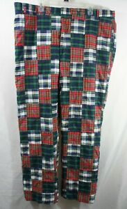Orvis Golf Pants Plaid Patchwork Madras Size 48