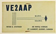 Vintage St-Lambert Quebec Canada Postcard QSL Card Amateur Radio 1962