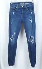 Seven 7 For All Mankind Denim Gwenevere dark Wash Distressed Jeans Size 26