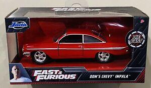 Jada Fast & Furious Dom's Chevy Impala Red 1/32 die cast Car