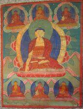 A Sino-Tibetan Painted TangKa, Shakyamuni