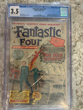 Fantastic Four #13 CGC 3.5 - 1st App of the Watcher - TOS 39 + Spider-Man #1 Ads