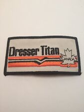 """Vtg Dresser Titan Canada Patch Oil Gas Rig Well Embroidered Sew On 4"""" Pump"""