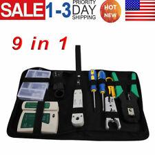 New Rj45 Rj11 Cat5 Network Tool Kit Cable Tester Crimp Crimper Lan Wire Stripper