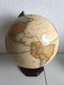 """The George F. Cram Companies Classic 12"""" Style Globe w/ Wood Base"""