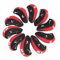 10 x Quality Black Quality Nike Golf Club Iron Covers HeadCovers UK Stock