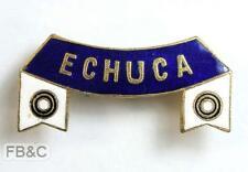 Echuca Lawn Bowls Ribbon Enamel Badge