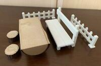 RARE Vintage Sylvanian Families BENCH SET Early 1980s Epoch JP Calico Critters