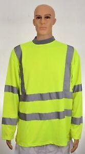 Size Large  Hi Viz Vis  Sweatshirt High Visibility Reflective Work Top