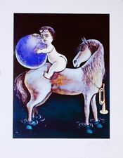 Jiří Georg Dokoupil – Boy and Horse – Hand Signed by Artist