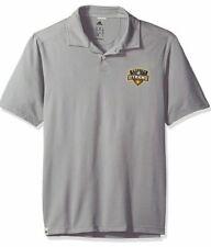 Adidas Men's Houston Dynamo Soccer Gray Polo Jersey Large L MLS US
