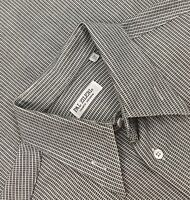 Pal Zileri Black/White Geometric Striped L/S Mens Dress Shirt 41/16 Italy