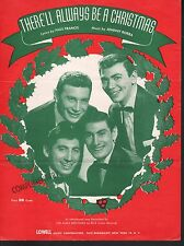 There'll Always Be A Christmas 1953 Ames Brothers Sheet Music