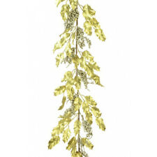 Gold Holly & gold Berry Garland 180 cm Christmas Florist Decorating garland