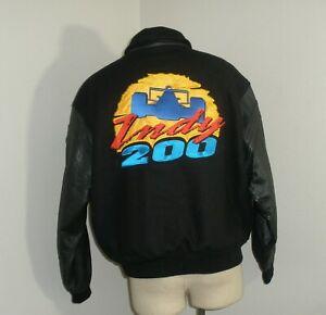 Vintage 90s Nascar Indy 200 Walt Disney World WOOL LEATHER Varsity jacket XL