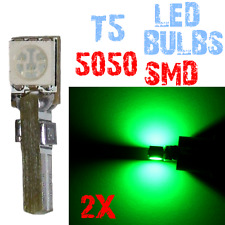 2Lampadine T5 LED 5050 Dashboard Interior Light Car Interior GREEN 4C12 4C12.2 X