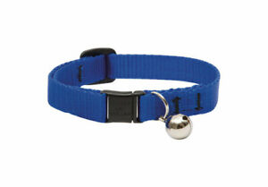 Lupine Pet 17527 Blue Nylon Reflective Breakaway Cat Collar 8-12 in. with Bell