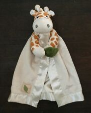 Baby Aspen Safari Lovey Plush Giraffe Rattle Satin Crinkle Ivory Minky Clutch