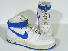 Men's Nike Air Force 1 High White Soar Blue Size 9 315121-110 Sneakers Hi Tops