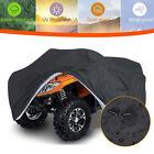 3XL Heavy Duty Waterproof ATV Cover For Polaris Honda Yamaha Can-Am Suzuki Black