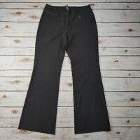 NYC New York & Company Stretch Gray Flare Stretch Career Work Dress Pants Size 4