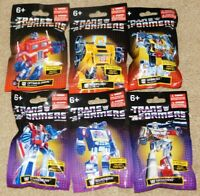 SET OF 6 PREXIO TRANSFORMERS MINI FIGURES (New In Package)