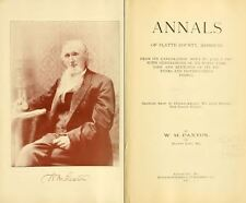 1897 PLATTE County Missouri MO, History and Genealogy Ancestry Family DVD B23
