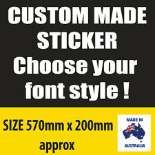 CUSTOM CAR STICKER CARAVAN RV 4WD Vinyl decal