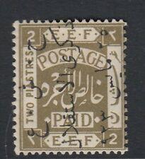 TRANSJORDAN SG104A 1923 - 2p olive -  Mounted mint