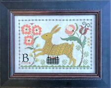 B IS FOR BUNNY SAMPLER-CROSS STITCH CHART- LA D DA
