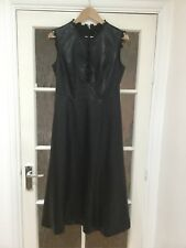 GILES Black Leather Look Dress Size 12
