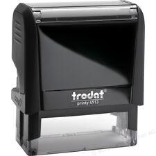 Custom Trodat 4913 Self Inking Stamp-Custom 3 to 4 line Return Address/Signature