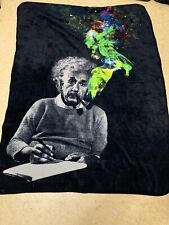 Albert Einstein Fleece Throw Blanket 43 Inches X 59 Across Rare