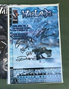 WARLANDS The Age of Ice DREAMWAVE PREVIEW 2001 SIGNED by CREATORS