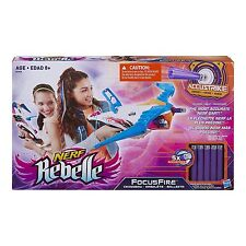 Nerf Rebelle Focus Fire Crossbow Blaster New Toy Ages 8+ Girls Boys Play Gift