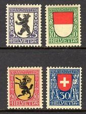 Switzerland - 1924 Pro Juventute: Coats of arms Mi. 209-12 MNH