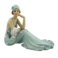 Juliana Art Deco Broadway Belles Teal Blue Lady Figurine / Ornament.New.60831