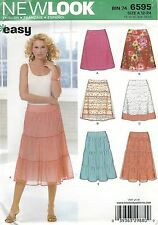 New Look 6595 Misses' Skirts 12 to 24     Sewing Pattern