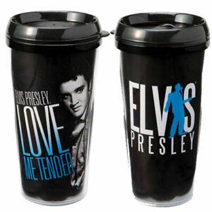 "New - Elvis Presley ""Love Me Tender"" 16 oz Travel Mug - Collectible by Vandor"
