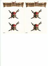4 Disney Pirates of the Caribbean Temporary Tattoos  Curse of the Black Pearl NE
