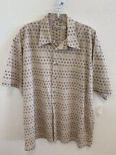 Burma Bibas Button Front Shirt Men's Size XL