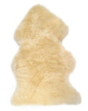Champagne Genuine Large Sheepskin Rug with Extra Thick Wool - British Made