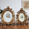 Vintage Picture Frame Oval Antique Table Top Wall Hanging Photo Frame Home Decor