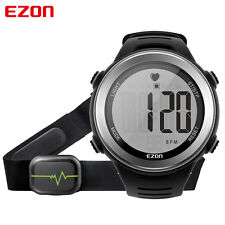 EZON Heart Rate Monitor Digital Sports Running Watch Alarm Stopwatch Chest Strap