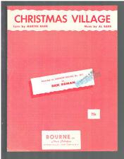 CHRISTMAS VILLAGE 1961 Vintage Sheet Music