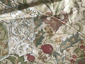 "Pottery Barn  Duvet Cover Full/Queen  shams 25"" x 20"" browns pomegrante floral"